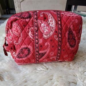 Vera Bradley Mesa Red Paisley Bandana Cosmetic Bag